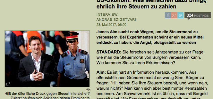 "Interview mit VBEN-Speaker Jim Alm im ""Standard"""