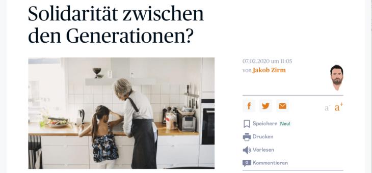 """Die Presse: """"Wie steht es um die Solidarität zwischen den Generationen?"""""""